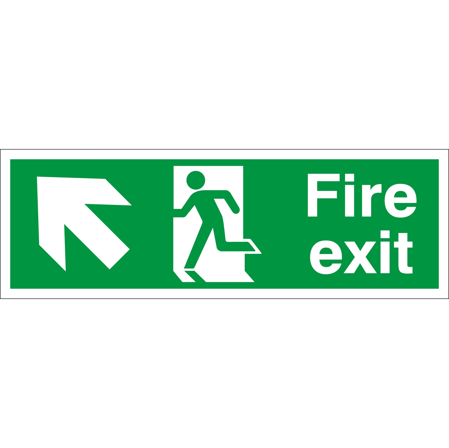 Pack of 2 FIRE EXIT DOWN RIGHT signs 300mm x 100mm Self adhesive Sticker