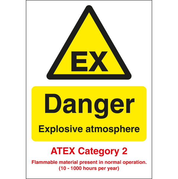Pack of 10 Hazard Warning Placards 250mm x 250mm Class 1 - Explosive
