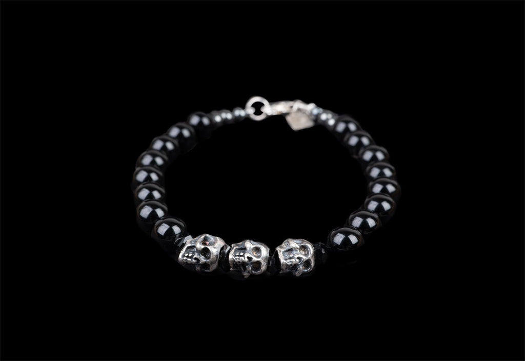 3 SKULLS ALICE BRACELET - Rock and Jewel