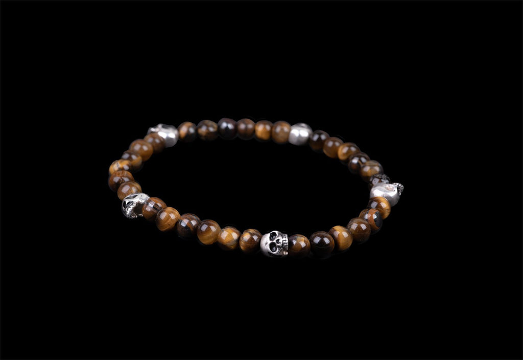5 SKULLS ALICE BROWN BRACELET - Rock and Jewel