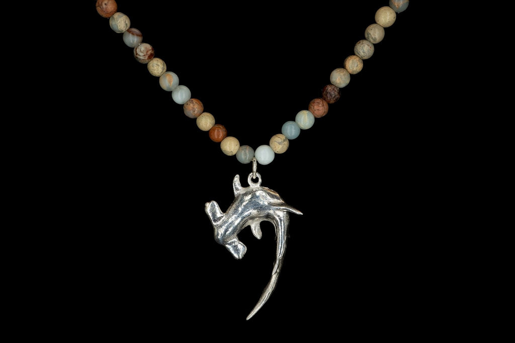 AFRICAN OPAL MEDIUM HAMMER SHARK NECKLACE - Rock and Jewel