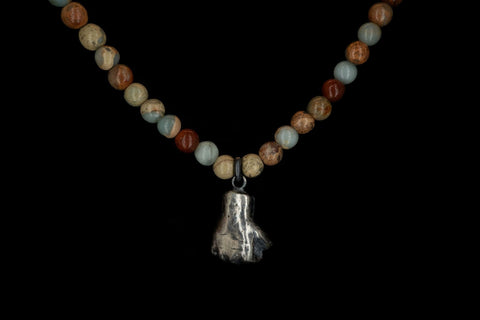 AFRICAN OPAL POWER FIST NECKLACE