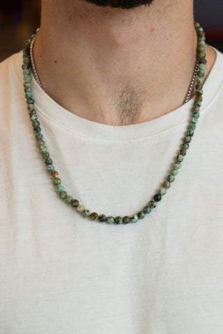 AFRICAN TURQUOISE BALL NECKLACE