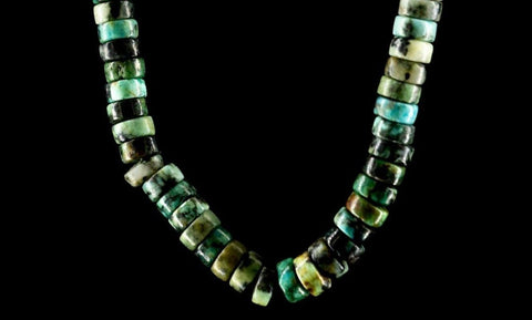 AFRICAN TURQUOISE CIRCLE NECKLACE
