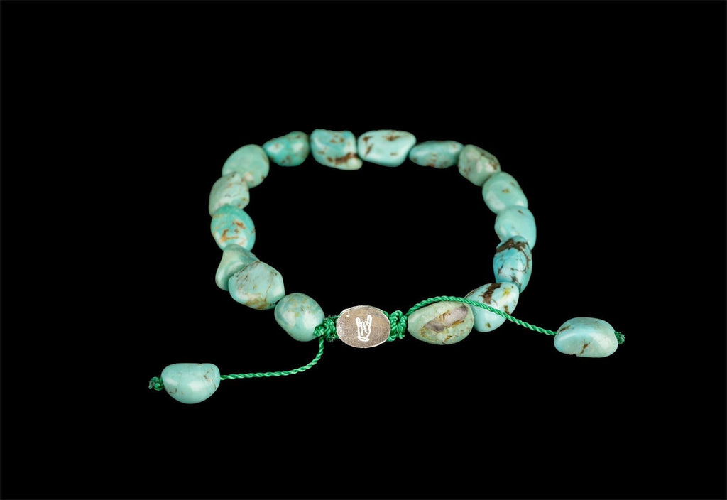 AFRICAN TURQUOISE STONE BRACELET - Rock and Jewel
