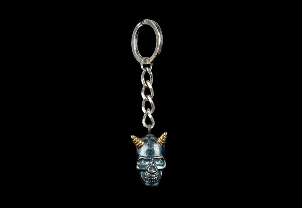 ALBERT SKULL DARK GOLDEN DEVIL HORNS - Rock and Jewel