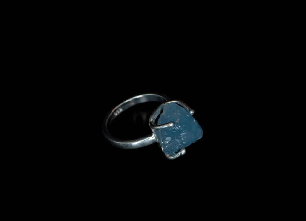 AQUAMARINE ROCK RING - Rock and Jewel