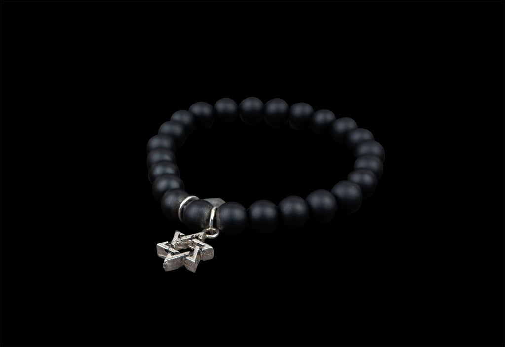BLACK STONES D.STAR BRACELET - Rock and Jewel