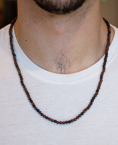 BROWN OBSIDIAN NECKLACE