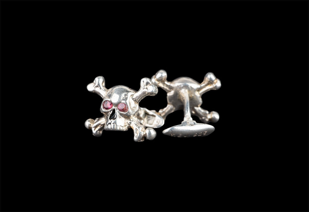 CROSSBONES SKULL JOE CUFFLINKS - Rock and Jewel