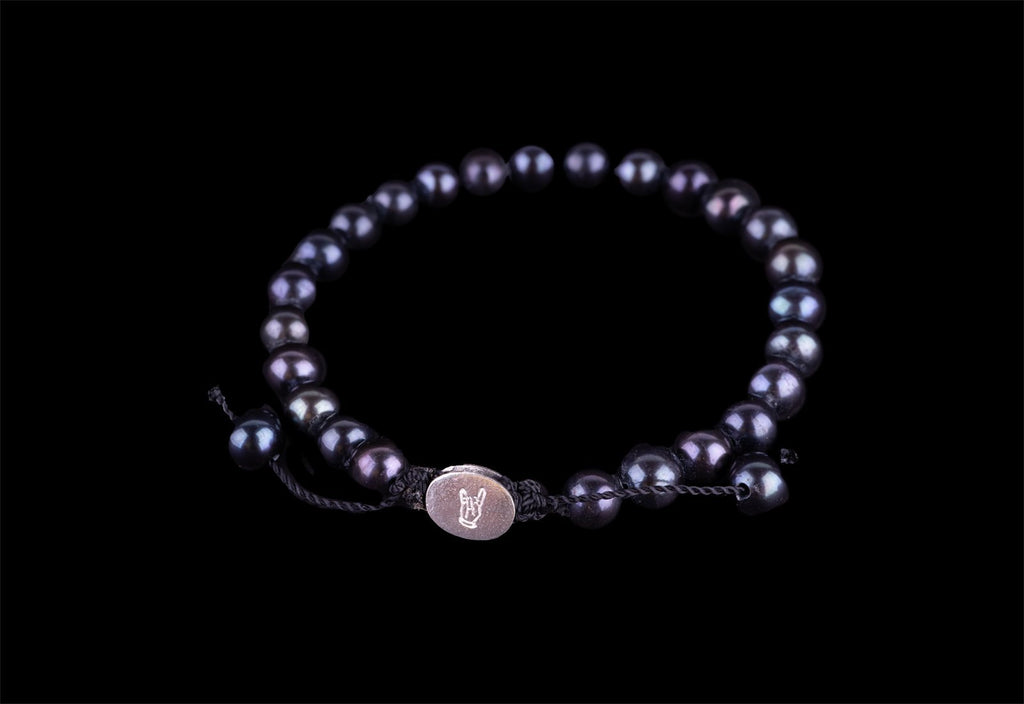 CULTIV. BLACK PEARL BRACELET - Rock and Jewel