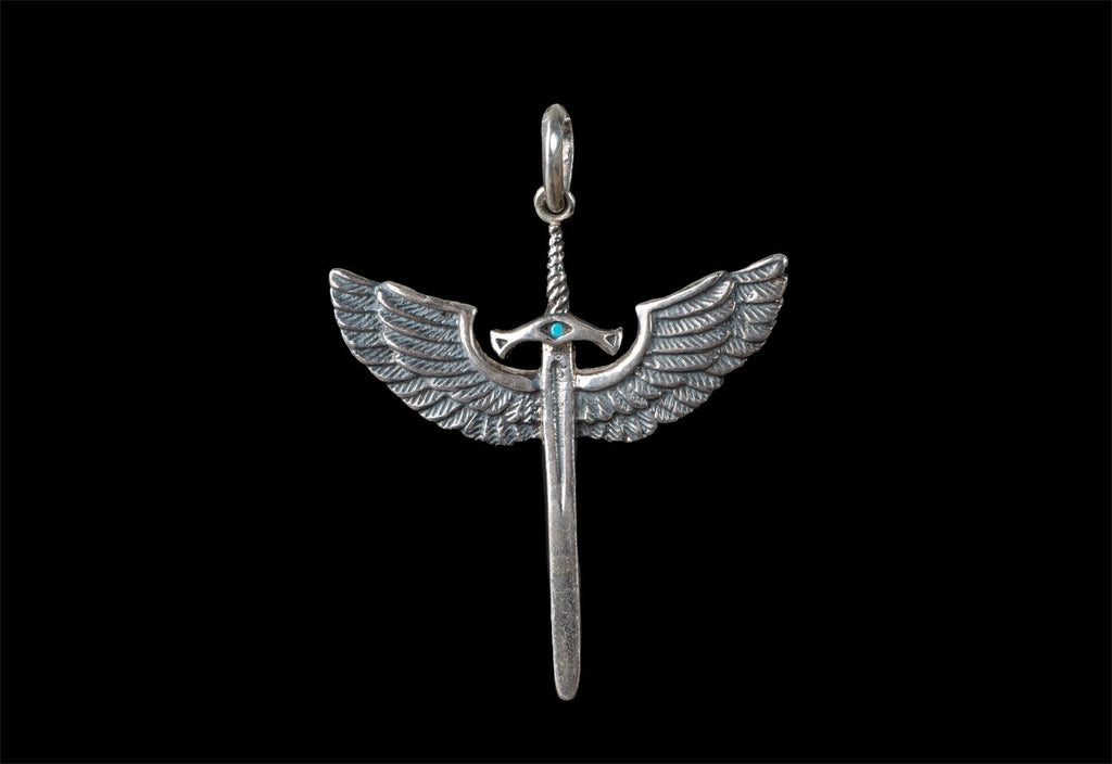 MICHAEL ANGEL PROTECTION SWORD WITH STONE - Rock and Jewel