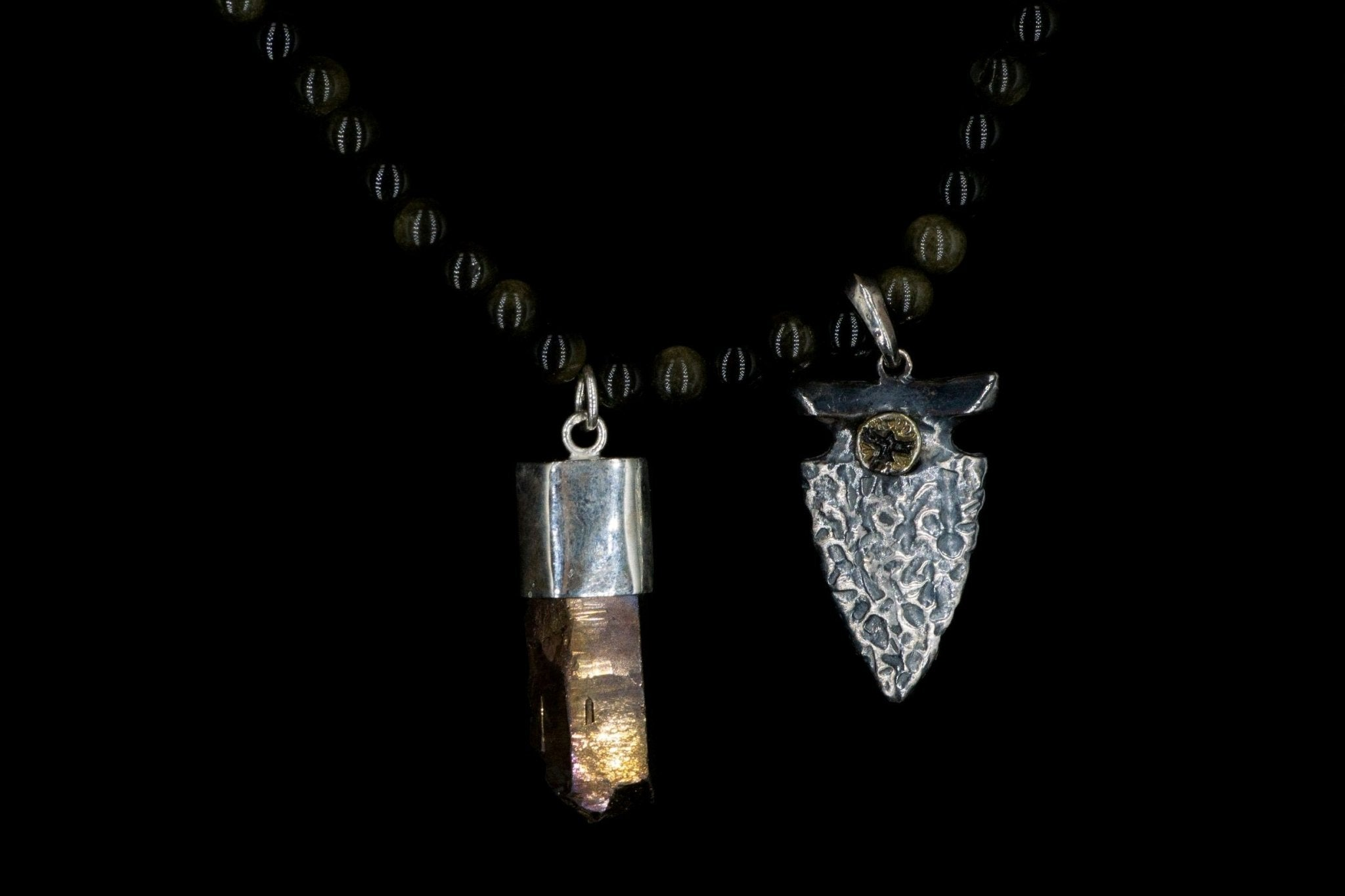 OBSIDIAN ANCIENT ARROWHEAD NECKLACE