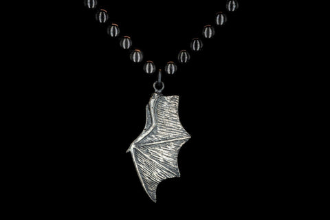 OBSIDIAN BAT WING NECKLACE