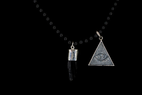 OBSIDIAN THE EYE OF PROVIDENCE NECKLACE