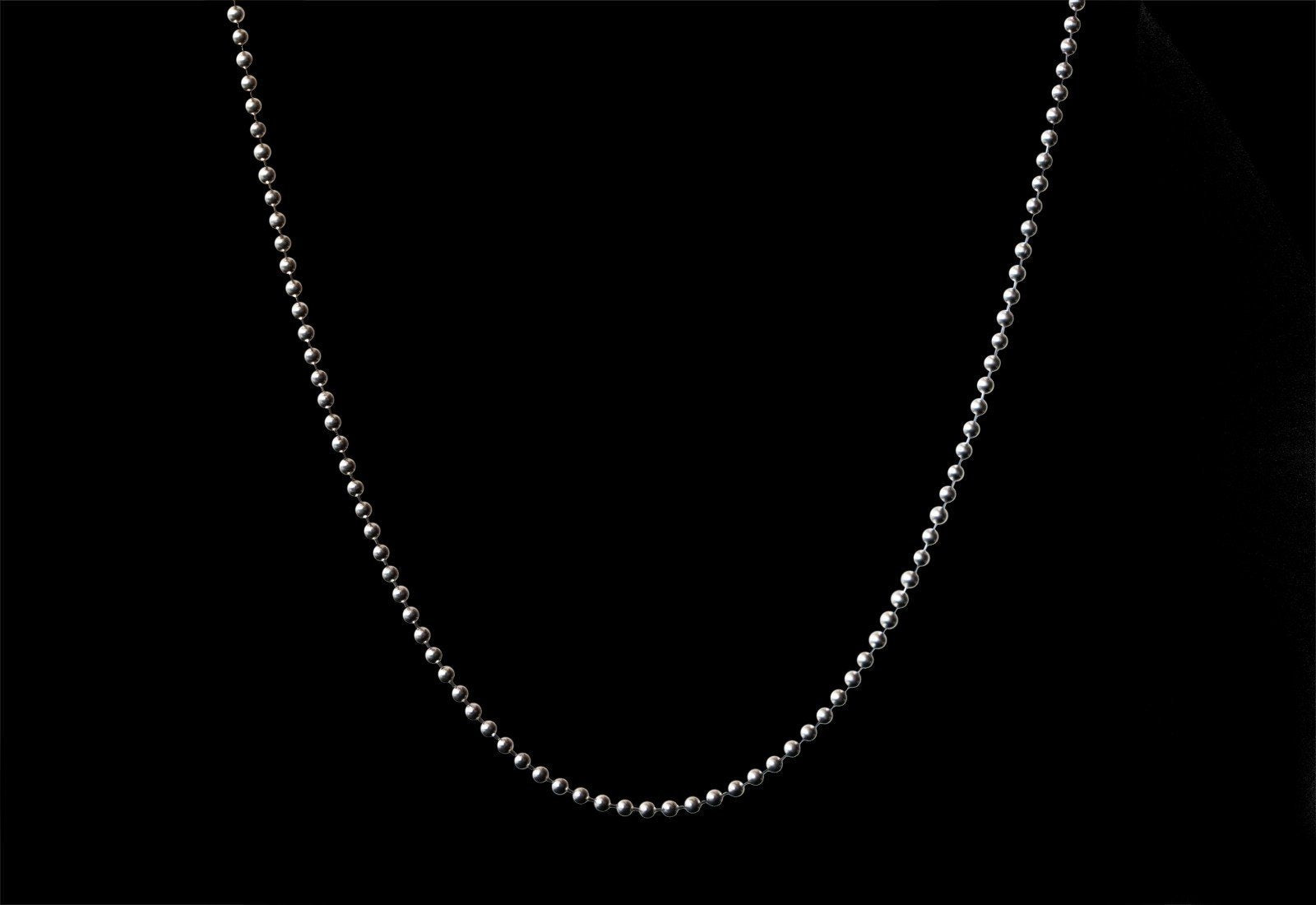 POLISHED SILVER BALL CHAIN ESPECIAL