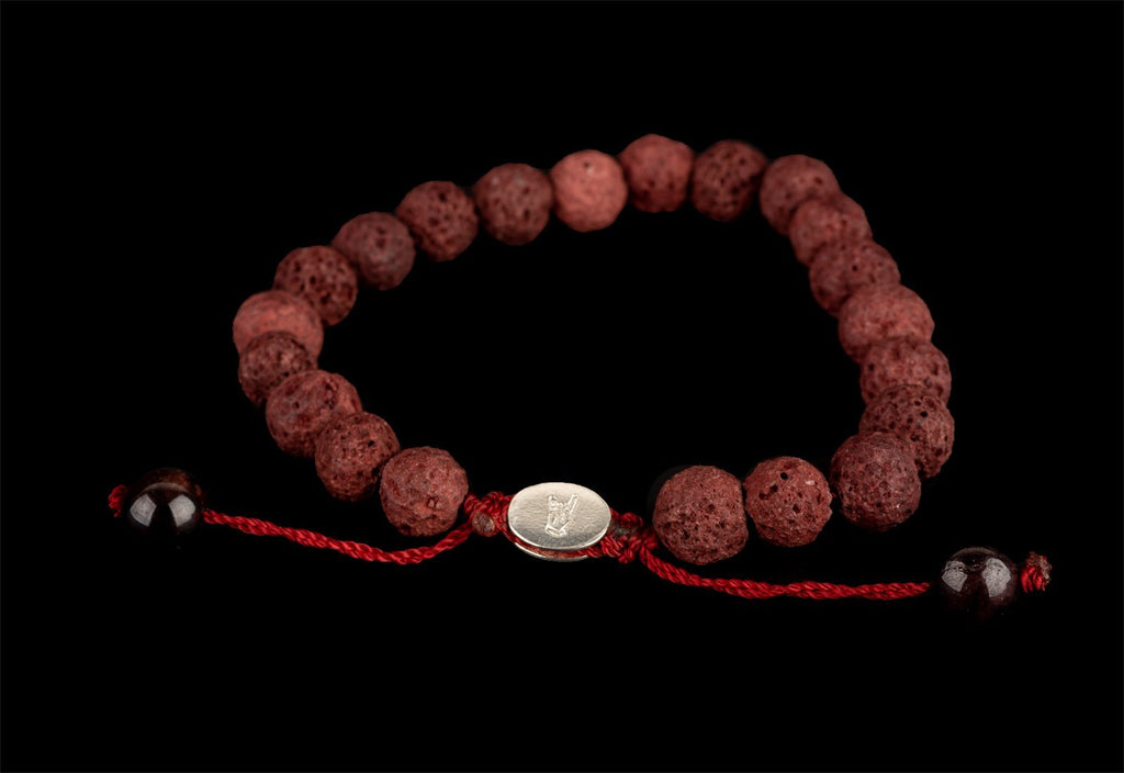 RED LAVA BRACELET - Rock and Jewel