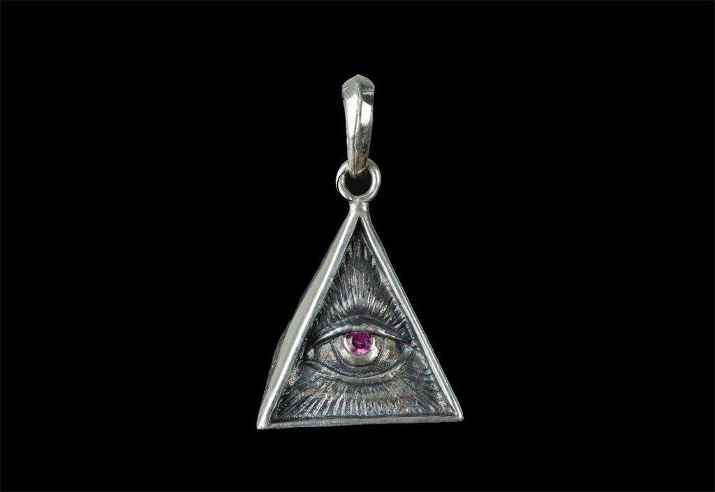ROCK STAR EYE OF PROVIDENCE TRIANGLE (CON RUBI) - Rock and Jewel