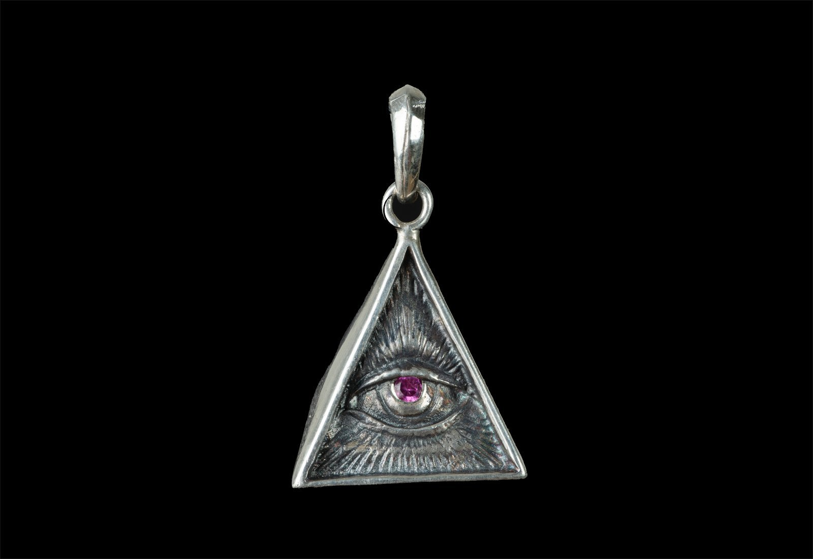 ROCK STAR EYE OF PROVIDENCE TRIANGLE (CON RUBI)