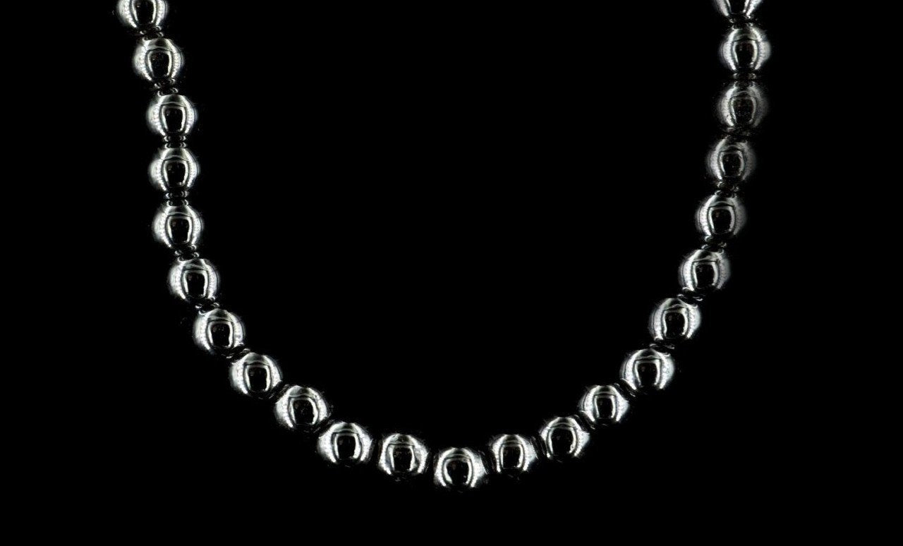 SILVER HEMATITE NECKLACE