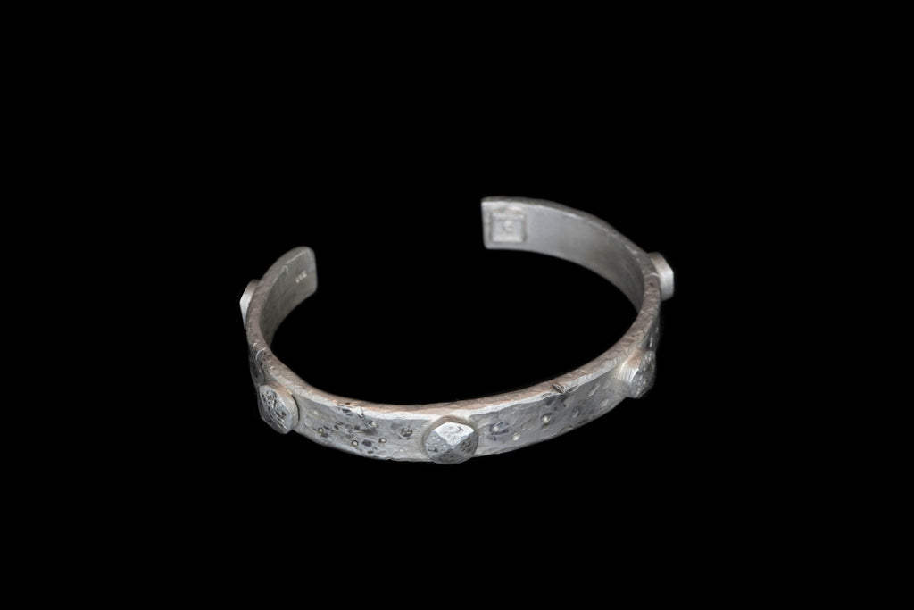 SILVER RIVETS CUFF - Rock and Jewel