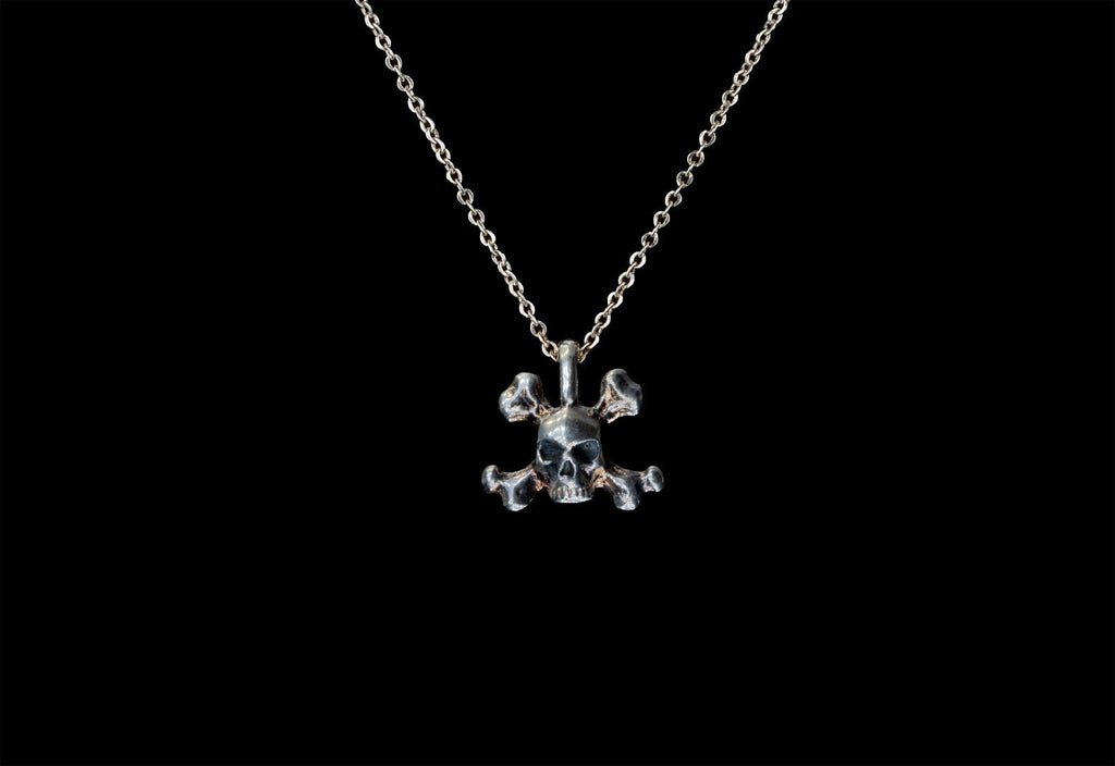 SKULL JOE CROSSBONE CHARM NECKLACE - Rock and Jewel