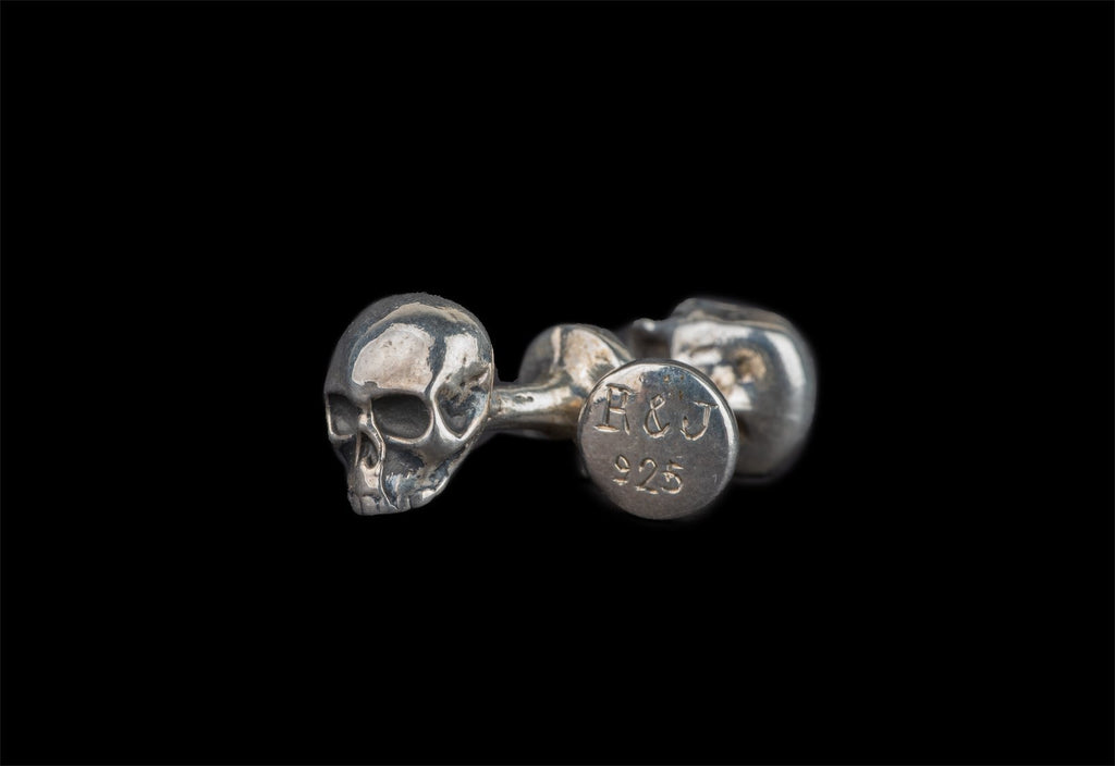 SKULL JOE SILVER CUFFLINKS - Rock and Jewel