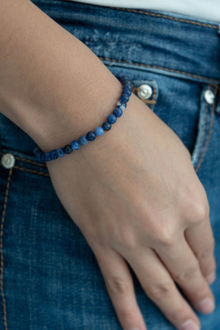 SMALL BALL SODALITE BRACELET