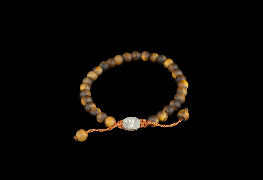 SMALL BALL TIGER EYE MATTE BRACELET - Rock and Jewel