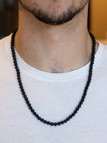 SMALL ONIX BLACK MATTE NECKLACE