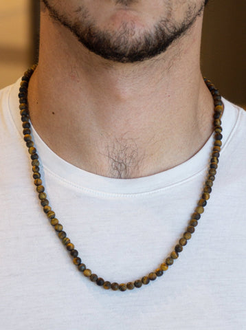 TIGER EYE MATTE NECKLACE