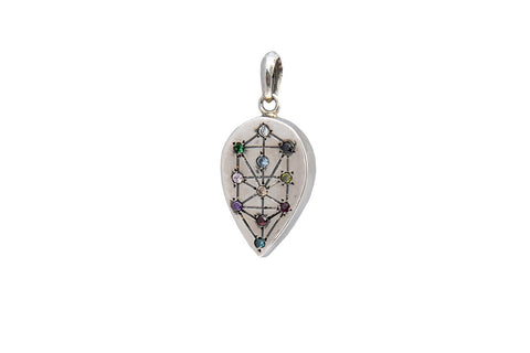 TREE OF LIFE SEPHIROT DROP WITH STONES