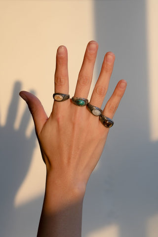 W TURQUESA EYE RING
