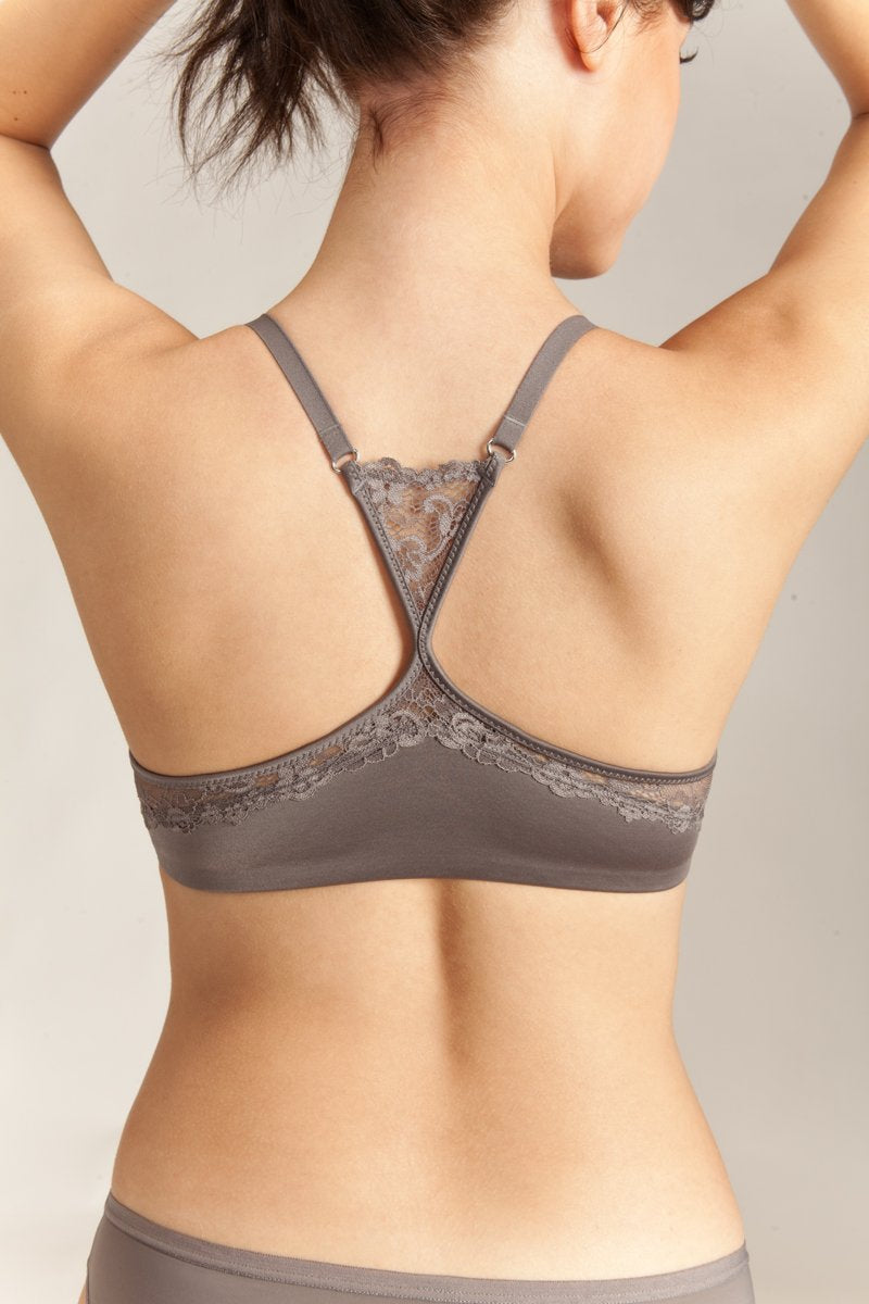 Racerback INCREDIBRA front closure comfort lux lace bra Enduo brands
