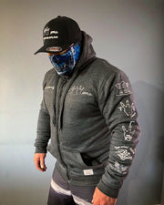 ARMORED 2WA GREY OFFICIAL Hoodie With DuPont™ Kevlar® & Body Armor