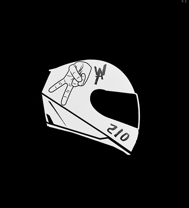 2WA Helmet Sticker