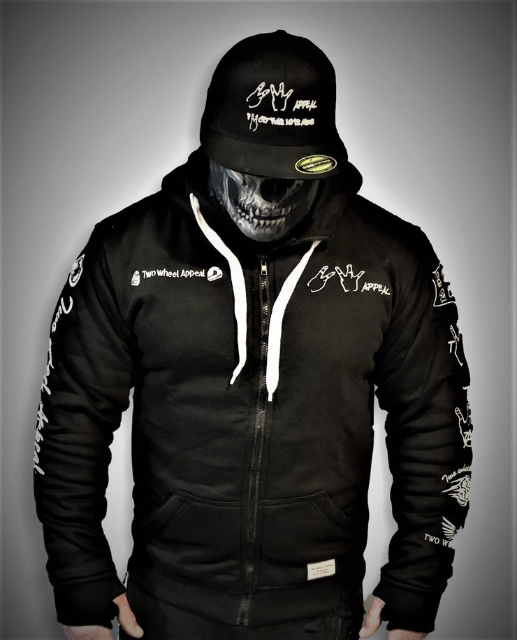 ARMORED 2WA BLACK OFFICIAL Hoodie With DuPont™ Kevlar® & Body Armor