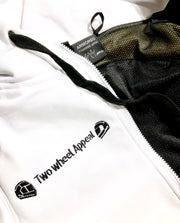 ARMORED 2WA WHITE OFFICIAL Hoodie With DuPont™ Kevlar® & Body Armor