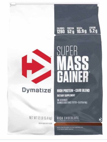 Super mass gainer - chocolate  whey protein by dymatize - 10pounds