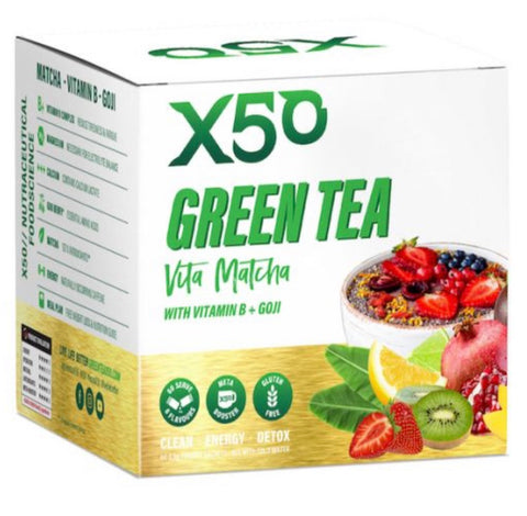 X50 green tea vita matcha with b+ goji - x50