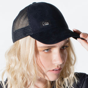 The Aston - Faux Suede Cap