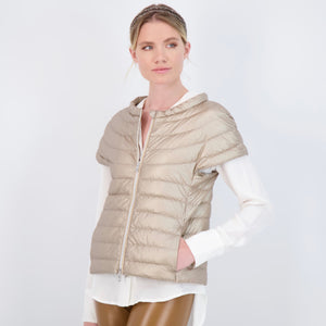 The St Ives Down Vest - Metallic
