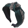 The Fleur - Satin Crystal knotted headbands