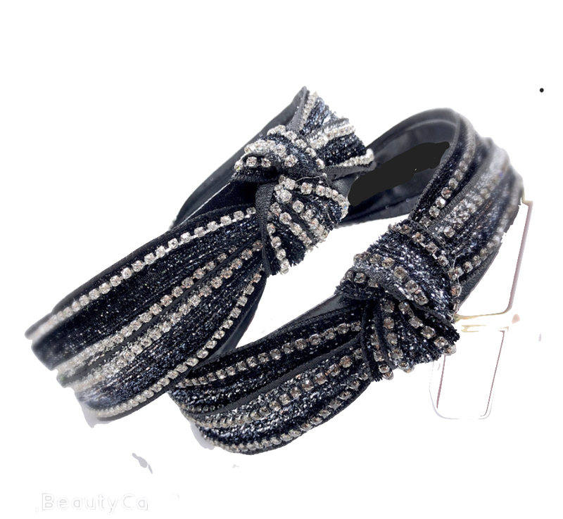 The Kenzie - Knotted Crystal Headband