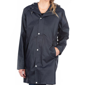 The Manchester Raincoat Cotes of London Ink Navy 2XS