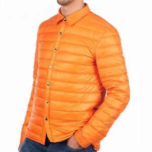 The Winchester Mens Down Jacket Cotes of London Orange XS