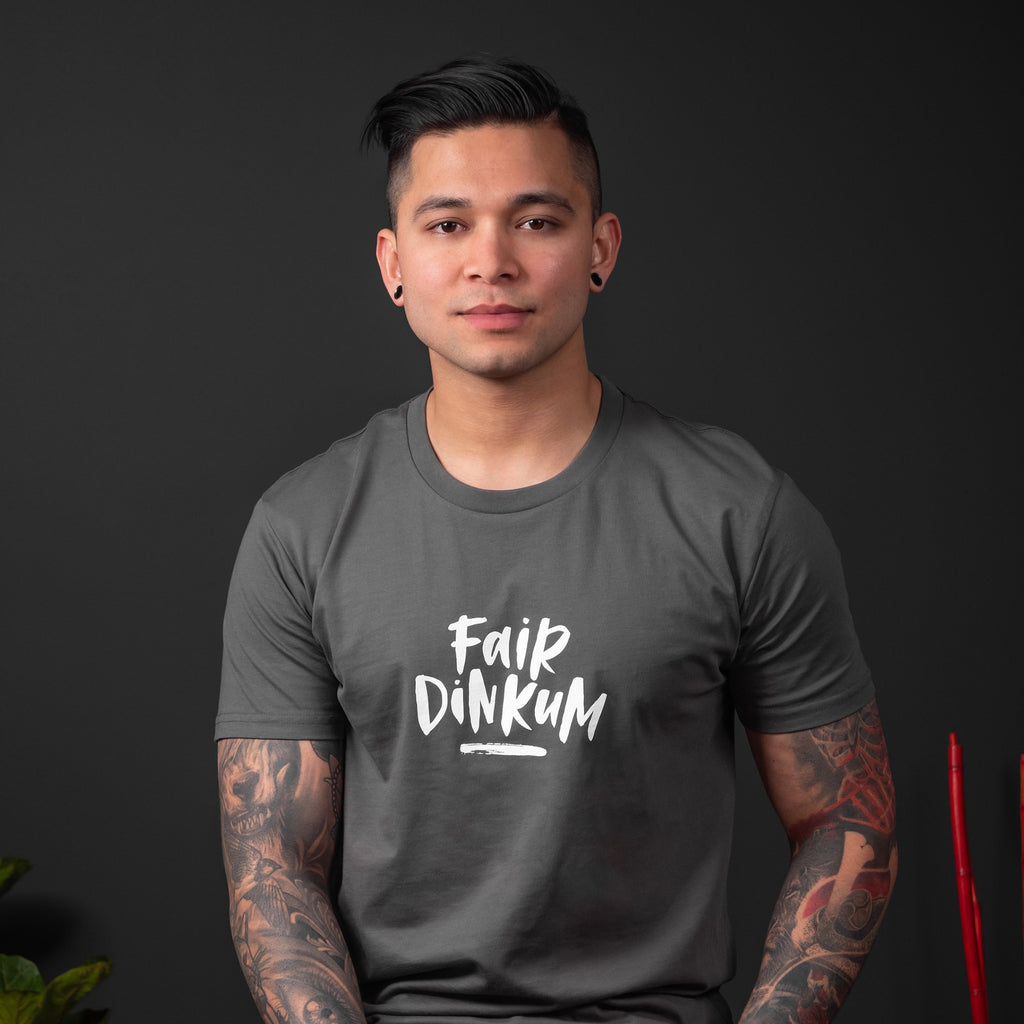 Fair Dinkum tee (Men's) - Charcoal