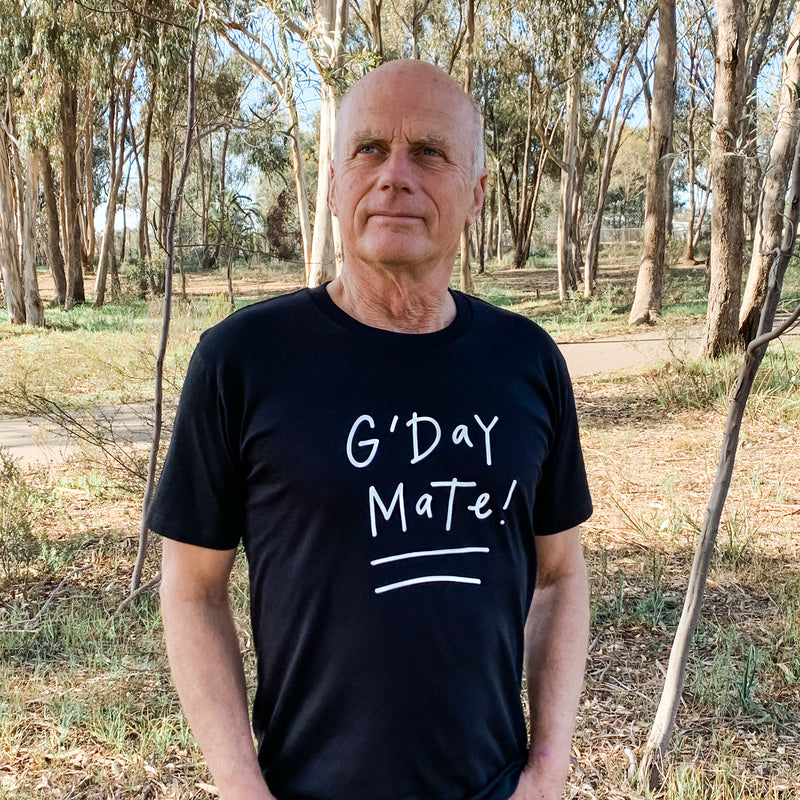 G'day Mate tee (Men's) - Black