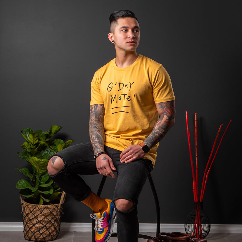 G'day Mate tee (Men's) - Mustard