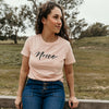 Noice tee (Ladies) - Pale Pink